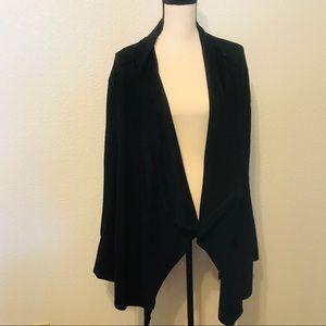BLANKNYC Cloud Nine Drape Jacket in Black